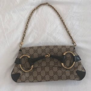 Gucci print purse